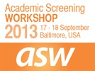 Academic Screening Workshop