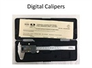 Digital calipers for accurate measurements up to two decimal places