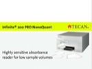 Watch Video: Infinite® 200 PRO with NanoQuant Plate™ for DNA/RNA Quantification Streaming Video