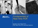Web Seminar: Fundamentals of Real-Time PCR Web Seminar