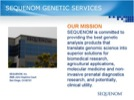 Audio Showcase: Sequenom Genetic Services Streaming Video
