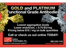 Gold and Platinum Antibodies