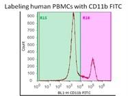 Using CD11b FITC Antibody on Human PBMCS