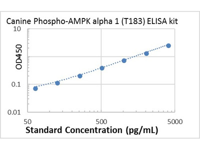 Canine Phospho-AMPK alpha 1 (T183) ELISA kit