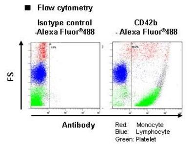Anti-CD42b (GPIbalpha) (Human) mAb-Alexa Fluor 488