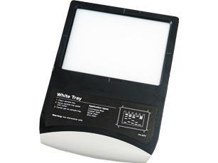 White light sample tray