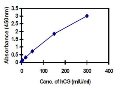 Human Chorionic Gonadotropin (hCG) ELISA Kit (Human) : 96 Wells (OKBA00014)
