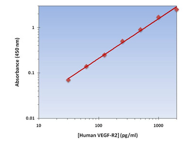 VEGF-R2 ELISA Kit (Human) : 96 Wells (OKAG00160)