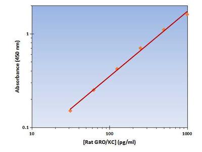 GRO/KC ELISA Kit (Rat) : 96 Wells (OKAG00104)