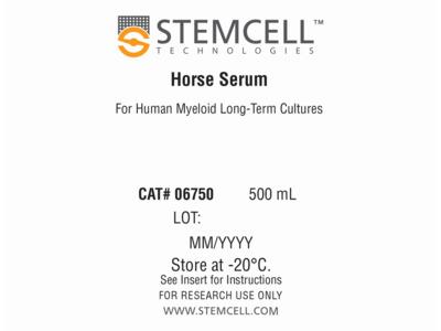 Horse Serum for Human Myeloid Long-Term Cultures
